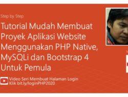 Part 2. Membuat Halaman Login dengan PHP Native, MySQLi dan Bootstrap