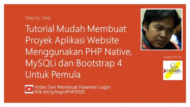 Membuat halaman login dengan PHP
