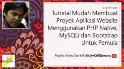 Part 4. Membuat Modul Pada Proyek Pembuatan Aplikasi Berbasis Website dengan PHP Native, MySQLi, Bootstrap dan Datatable