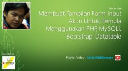 Part 5. Membuat Form Input | Tutorial PHP MySQLi