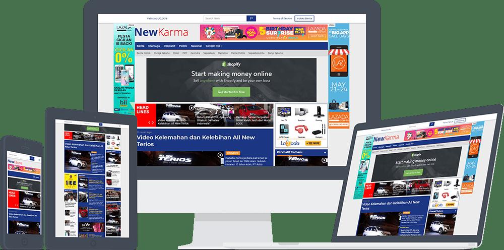 Newkarma Tema WordPress untuk Portal Berita