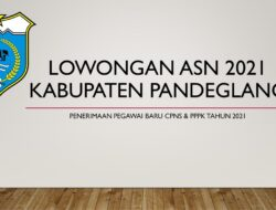Lowongan ASN Kabupaten Pandeglang Tahun Anggaran 2021