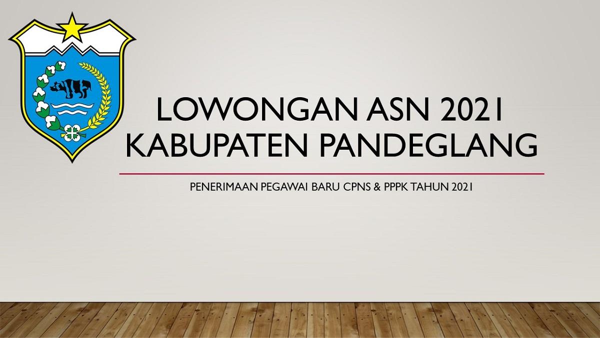 Lowongan ASN 2021 Kabupaten Pandeglang Provinsi Banten