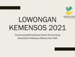 Lowongan Pendamping Rehabilitasi Sosial Penyandang Disabilitas KEMENSOS RI Tahun 2021