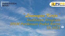 Lowongan Fasilitator SPAM Perdesaan Padat Karya BPPW Banten