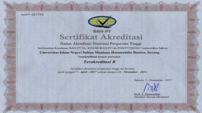 Butuh Dokumen Akreditasi Kampus UIN Banten?