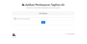 Homepage - Aplikasi Pembayaran Tagihan Air PDAM